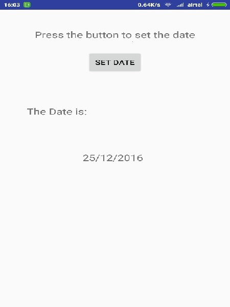 Android Date Picker Tutorial