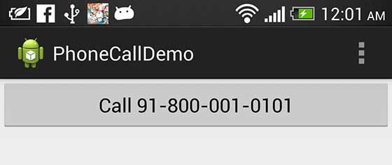 Android Mobile Call Screen