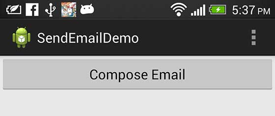 Android Mobile Email Compose