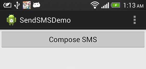 Android Mobile SMS Compose