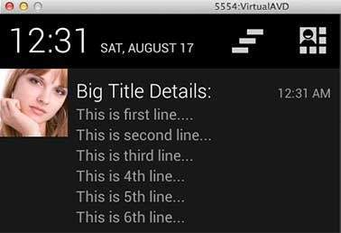 Android Notification Big View