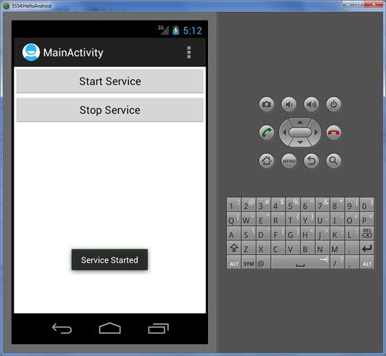Android Service Start