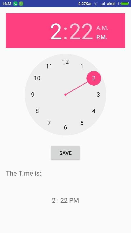 Android Time Picker Tutorial