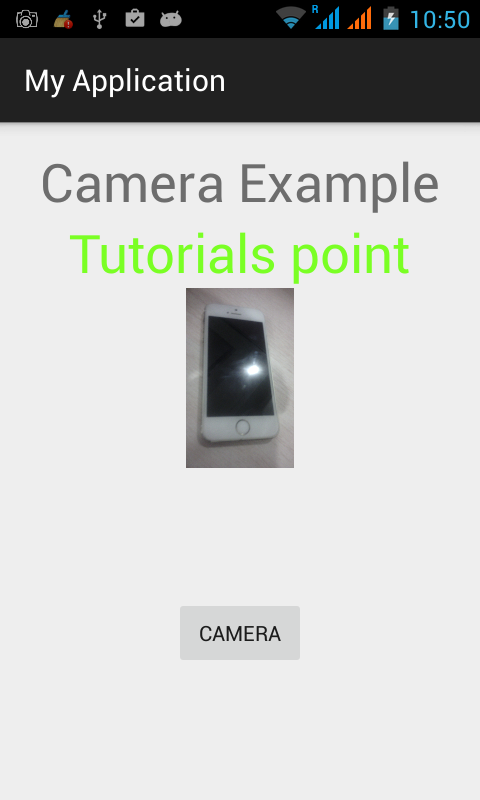 Anroid Camera Tutorial