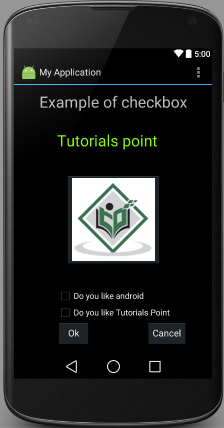 Android CheckBox Control