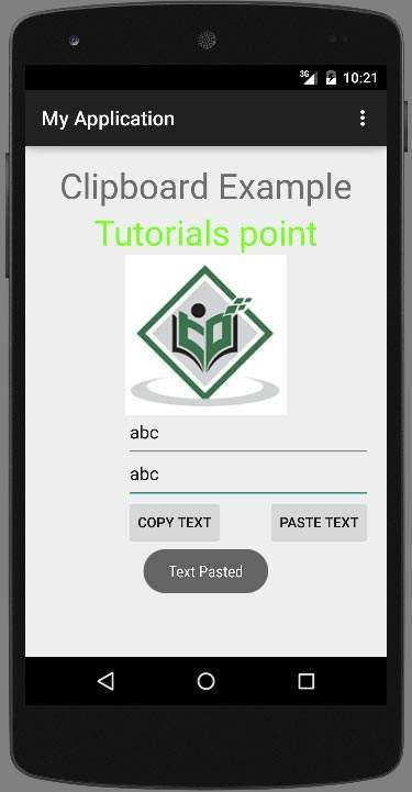 Anroid clipboard Tutorial