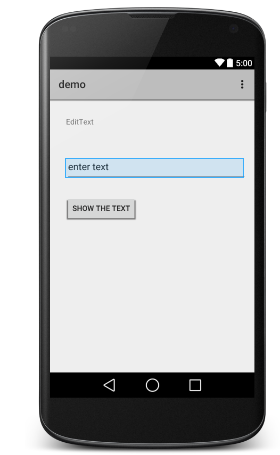 Android edittext Control