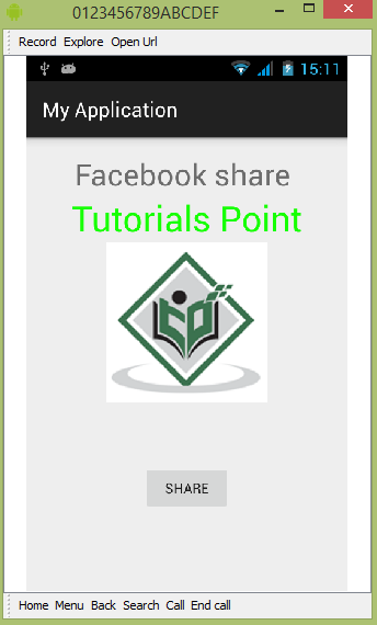 Android facebook Tutorial