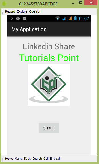 Android Linkedin Tutorial