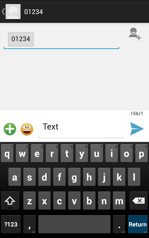 Android Mobile SMS Screen