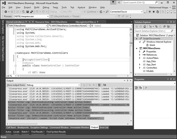 window asp net: