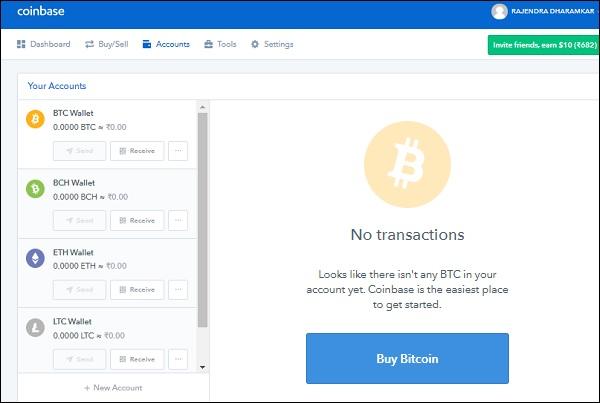 Compte portefeuille Bitcoin