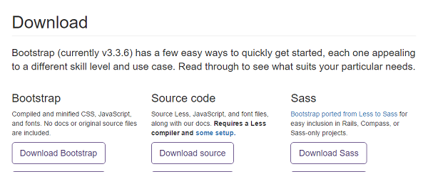 Bootstrap Download Screen
