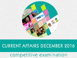 Current Affairs December 2016