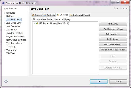 Java Build New View