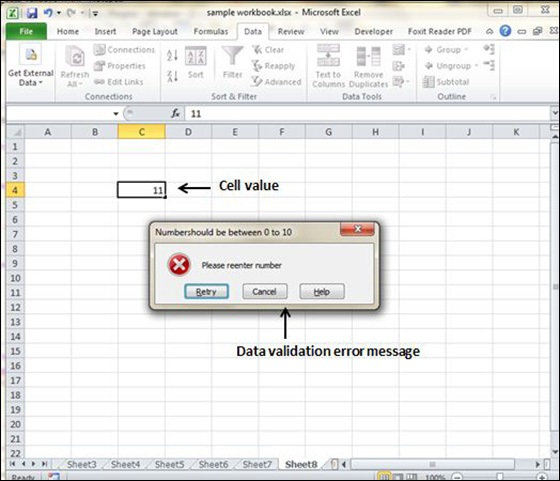 Data Validation In Excel 2010