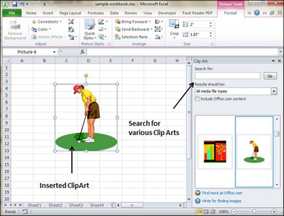 clipart in excel 2010 - photo #15