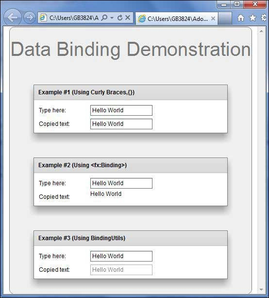 Flex Data Binding