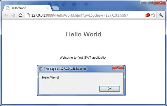 GWT Application Result