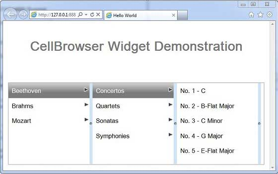 GWT CellBrowser Widget