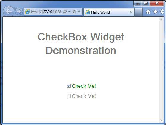 GWT CheckBox Widget
