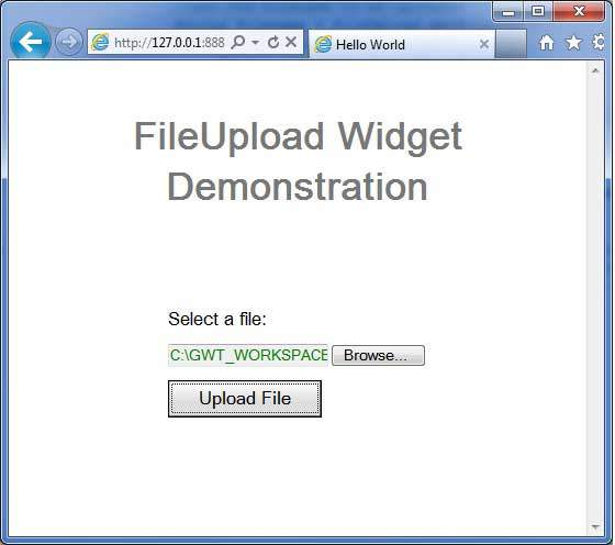 GWT FileUpload Widget