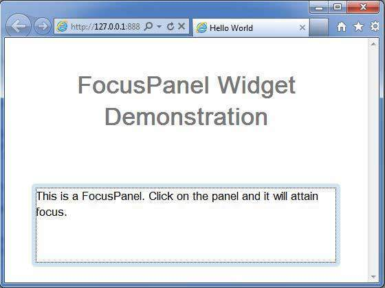 GWT FocusPanel Widget