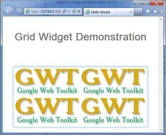 GWT Grid Widget