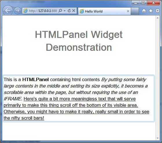 GWT HTMLPanel Widget