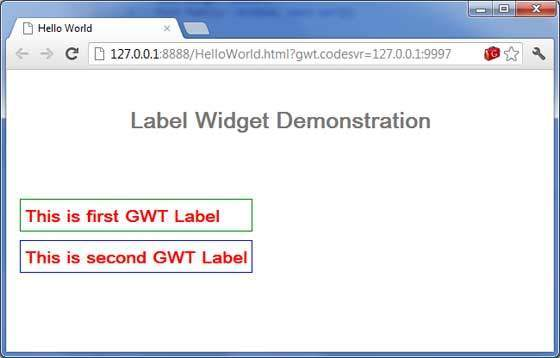 GWT Label Widget