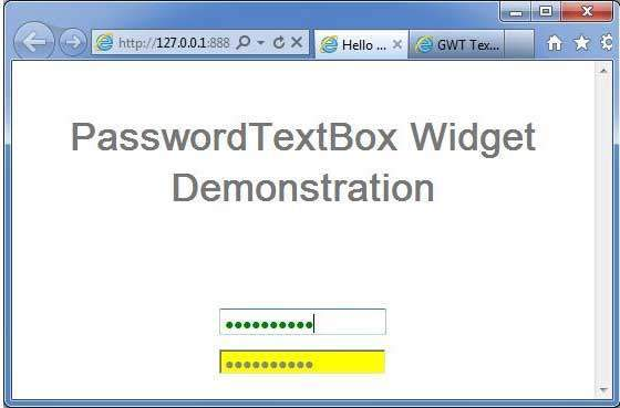 GWT PasswordTextBox Widget