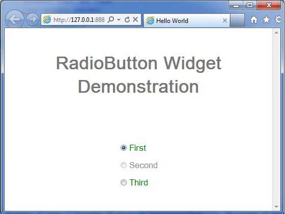 GWT RadioButton Widget