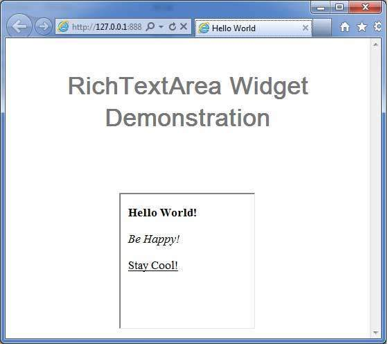 GWT RichTextArea Widget