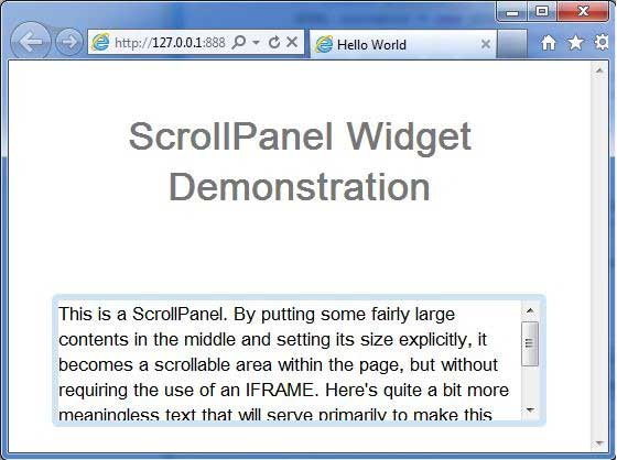 GWT ScrollPanel Widget