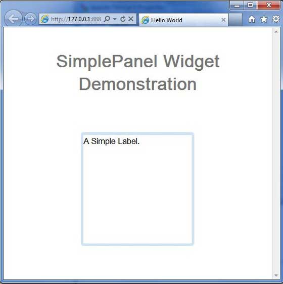 GWT SimplePanel Widget