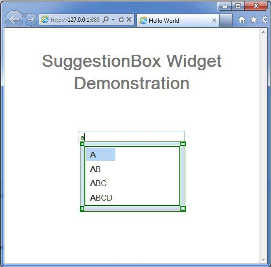 GWT SuggestionBox Widget