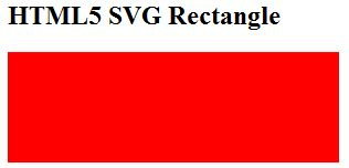 HTML5 SVG Rectabgle