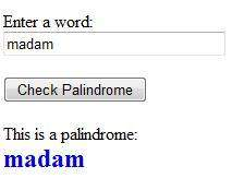 checks palindromes