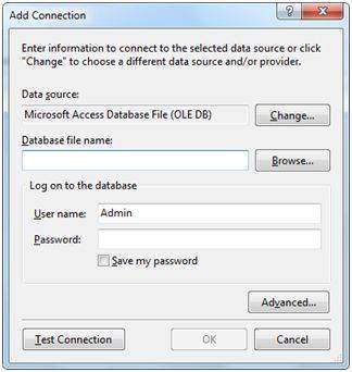 Connection with a database