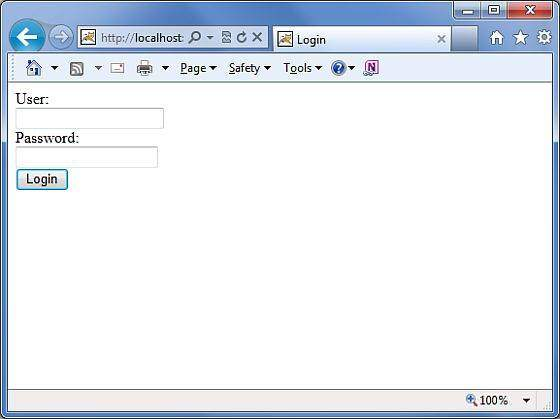 jsp login form using