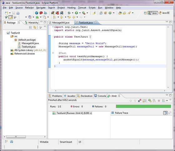 how to write junit test in eclipse