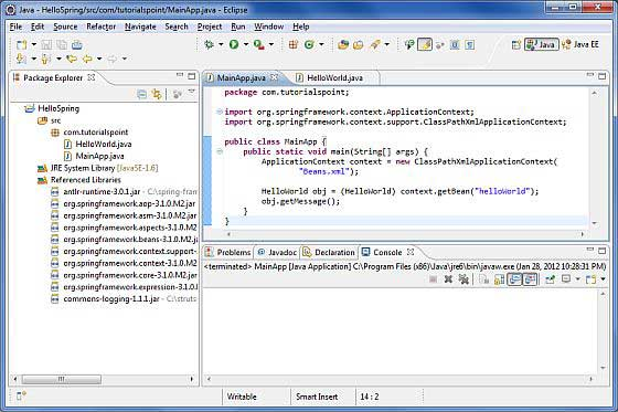 Spring Helloworld Example - Read Java Technologies