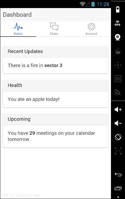 Ionic Tabs App