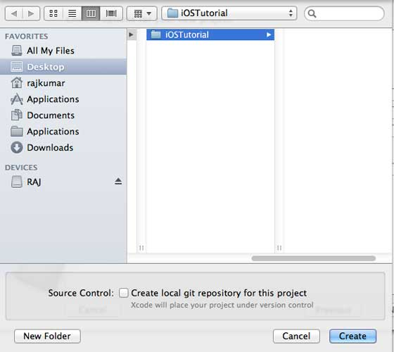 Create Project Select Folder