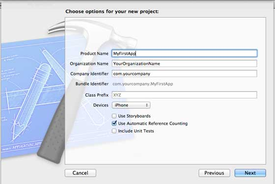 New Project Create Options