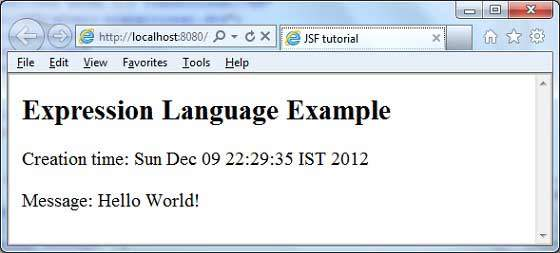 JSF Expression Language Result