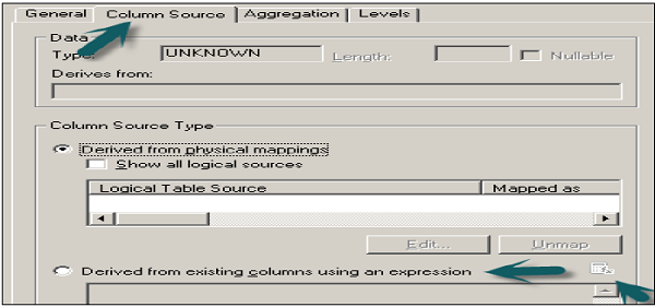 Logical Column Dialog Box