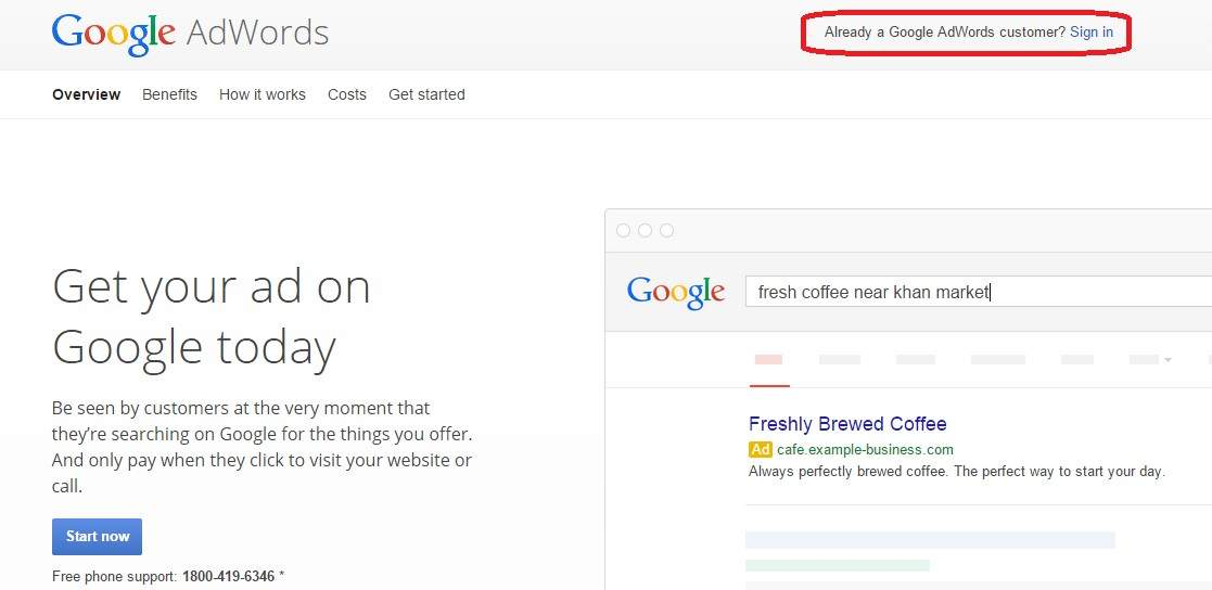 how to start using adwords