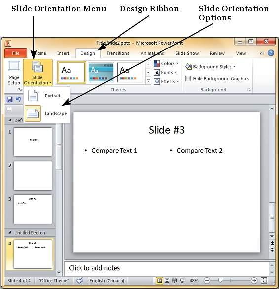Как в powerpoint сделать книжный слайд