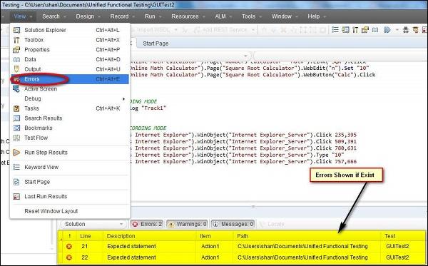 qtp testing tool tutorial pdf